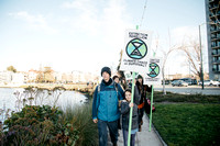 Walking to Extinction Rebellion at Lake Merritt